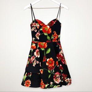 B. Darlin Black & Red Floral Cocktail Dress 5/6